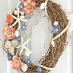 DIY Coastal Burlap Flower Wreath Tutorial