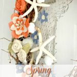 DIY Coastal Burlap Flower Wreath Tutorial