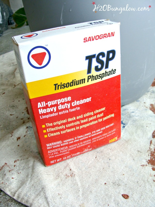 Use TSP in how to prepare furniture for painting H2OBungalow