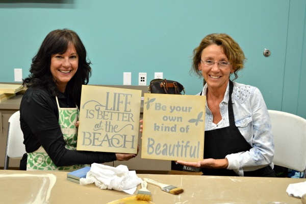 Furniture painting workshop held monthly in Madeira Beach Florida taught by Natuional DIY blogger from H2Obungalow