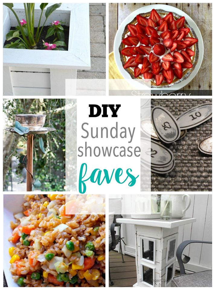 DIY Sunday Showcase features of the week stop by and see them all lins in post H2OBungalow
