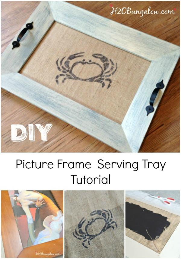 Diy Coastal Picture Frame Serving Tray