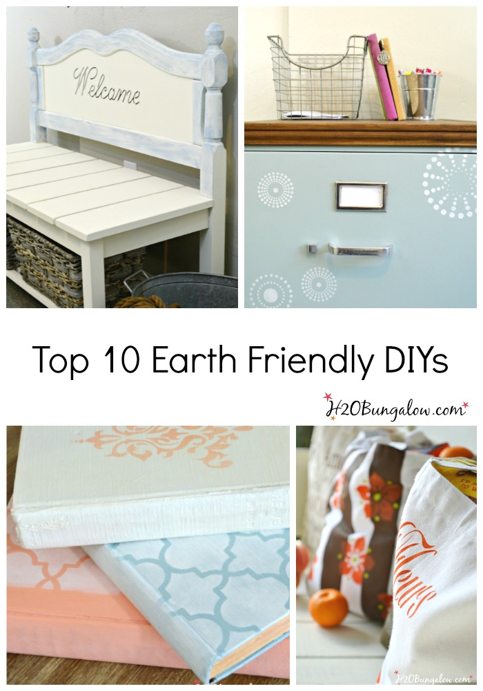 Top ten earth friendly DIY tutorials that look great and take care of the environment H2OBungalow