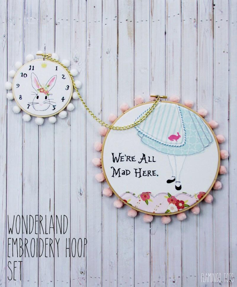 Wonderland-Embroidery-Hoop-Set-and-Free-Pattern