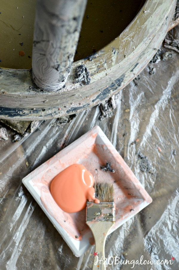 how to strip paint off furniture for chippy finish H2OBungalow