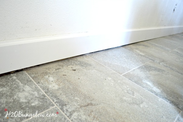 uneven floor with baseboards