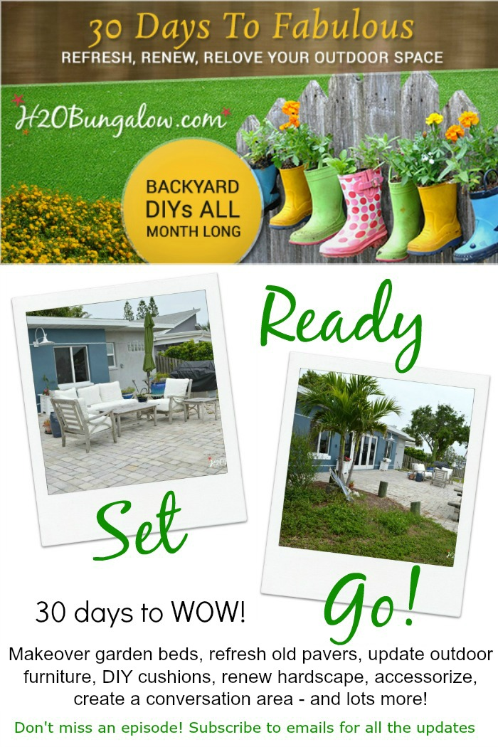 30 Days To Fabulous Backyard Makeover packed with fresh outdoor DIY projects by H2OBungalow