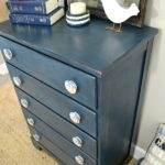 DIY Americana Dresser Makeover in Red White And Blue