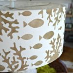 Stenciled DIY Hanging Pendant Light