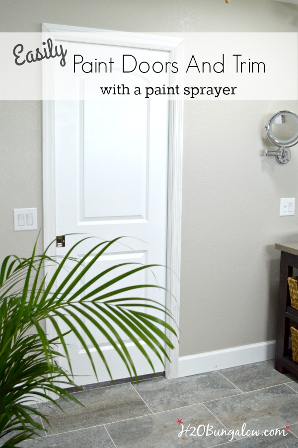 How to paint doors and trim homeright for How to spray paint doors