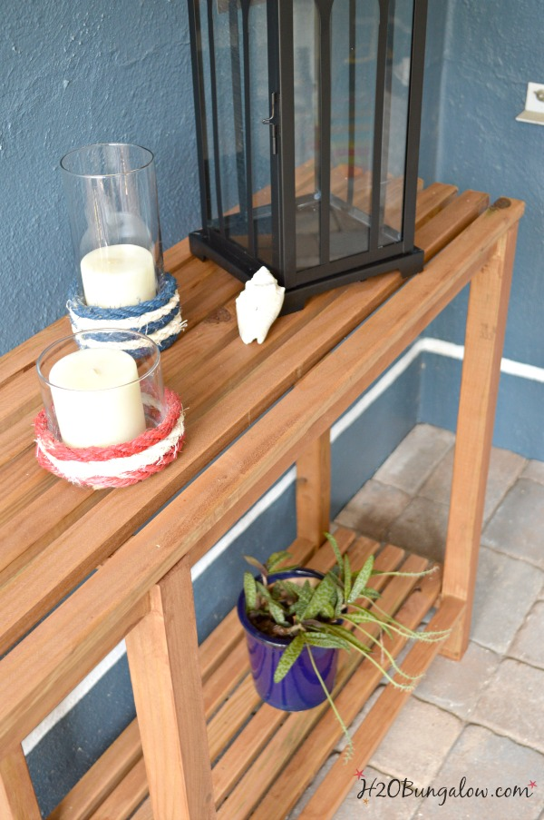 DIY Outdoor Sofa Table Tutorial - H20Bungalow