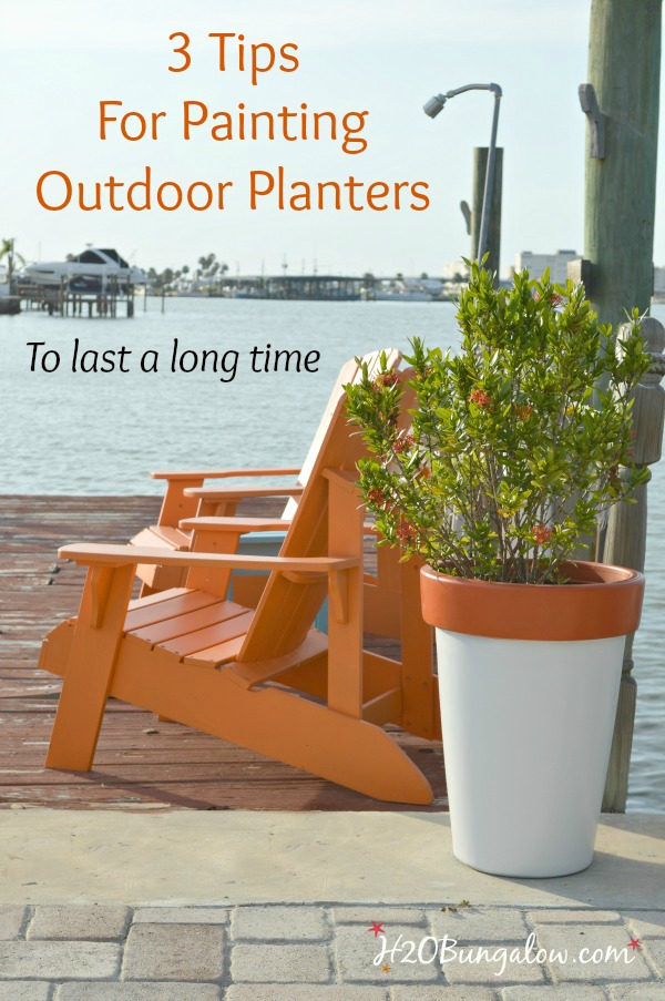 Simple Tutorial With 3 Tips For Painting Outdoor Planters And Your Outdoor  Paint Project Will Last