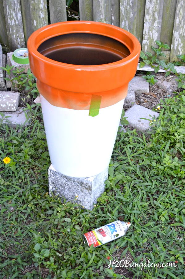 H2OBungalow & 3 Tips for Spray Painting Outdoor Planters - H2OBungalow