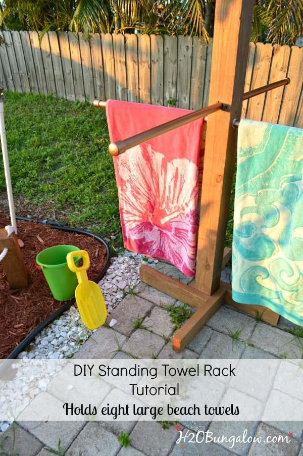 Pool Towel Drying Rack Classy DIY Outdoor Standing Towel Rack H60Bungalow
