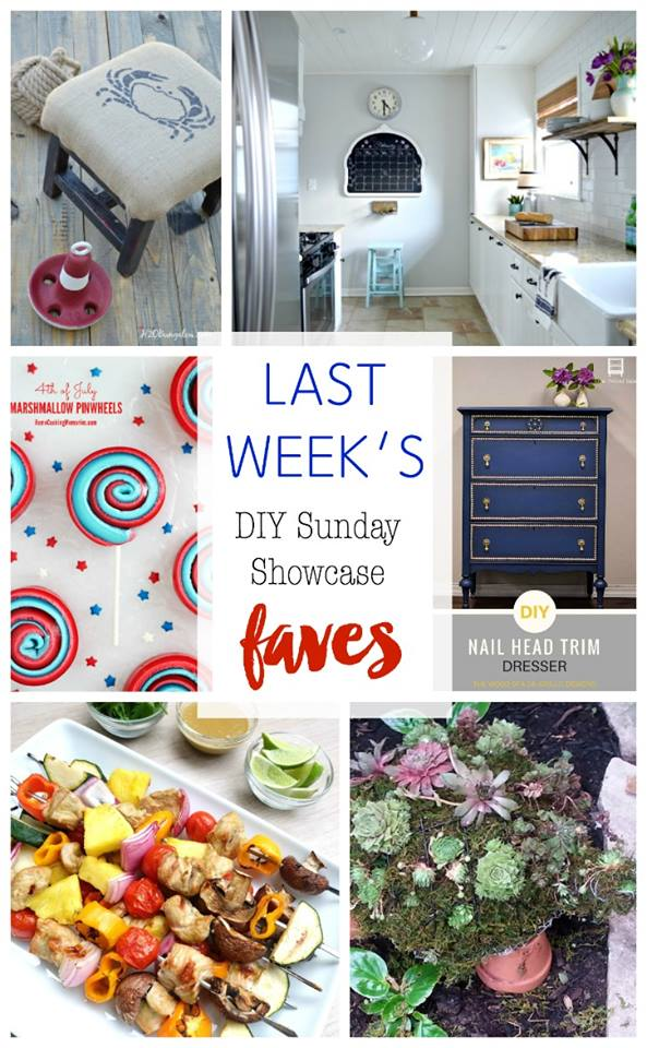 DIY Sunday Showcase features Stop by and see them all H2OBungalow