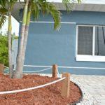 DIY Coastal Rope Garden Border