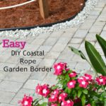 DIY Coastal Rope Garden Border