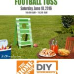 DIY Workshop Fathers Day Football Toss