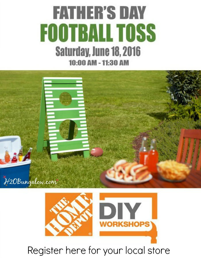 Attend A Fathers Day Football Toss Workshop At Your Local Home Depot Learn New And