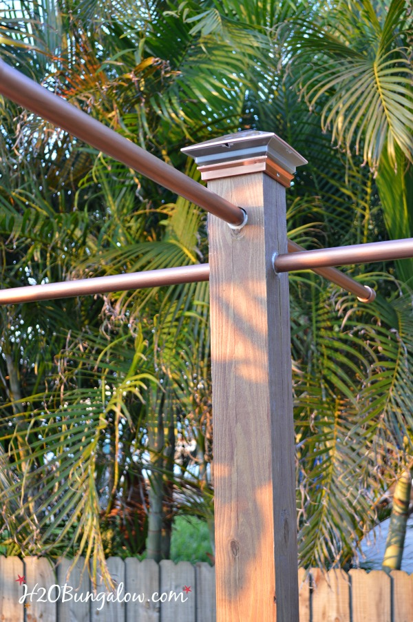 Standing-towel-rack-with-copper-solar-light-H2OBungalow