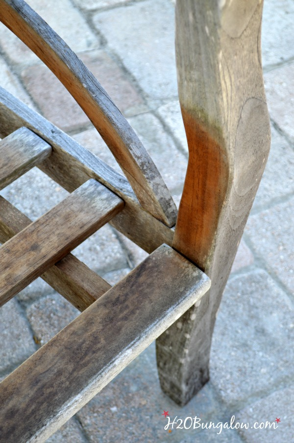 Sun-damage-on-teak-furniture-before-refinishing-H2OBungalow