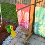DIY Outdoor Standing Towel Rack