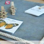 Faux Zinc Magnetic Memo Board