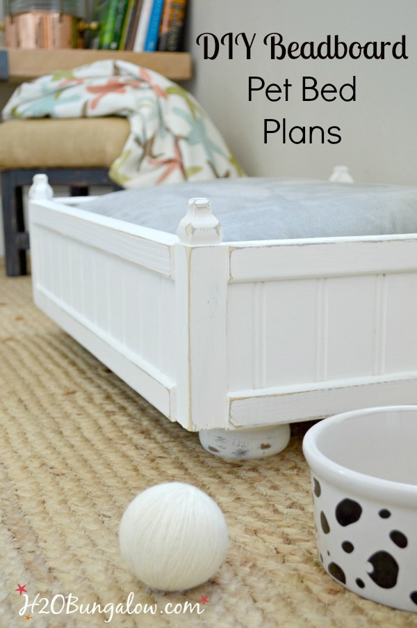 Diy small pet bed plans h20bungalow for How to make a cat bed easy