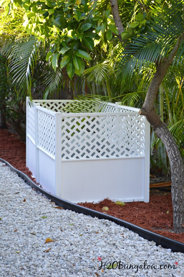 hide outdoor ugly tanks with fencing