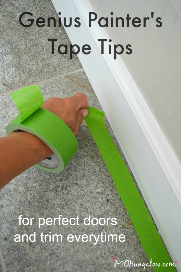 Genius painter's tape tips will have you painting like a pro in no time at all. Get perfect doors and trim everytime H2OBungalow