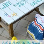 DIY Beachy Starfish Stenciled Bench