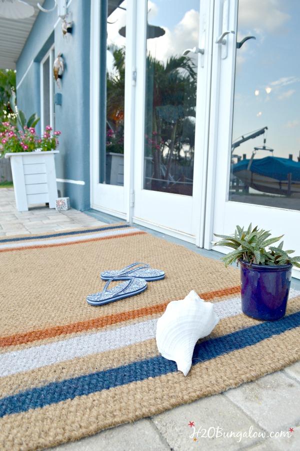 spray paitned door mat