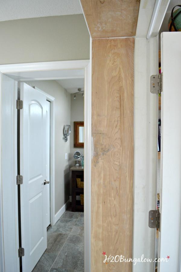 inside of door shown prior to painting