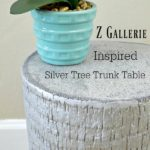 ZGallerie Inspired Silver Tree Trunk Table