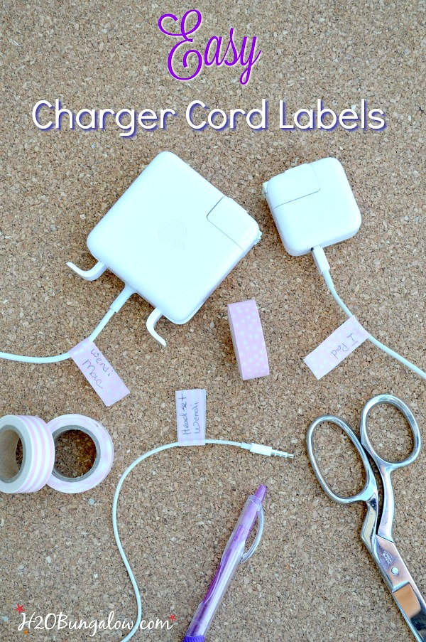 DIY Charger cord labels