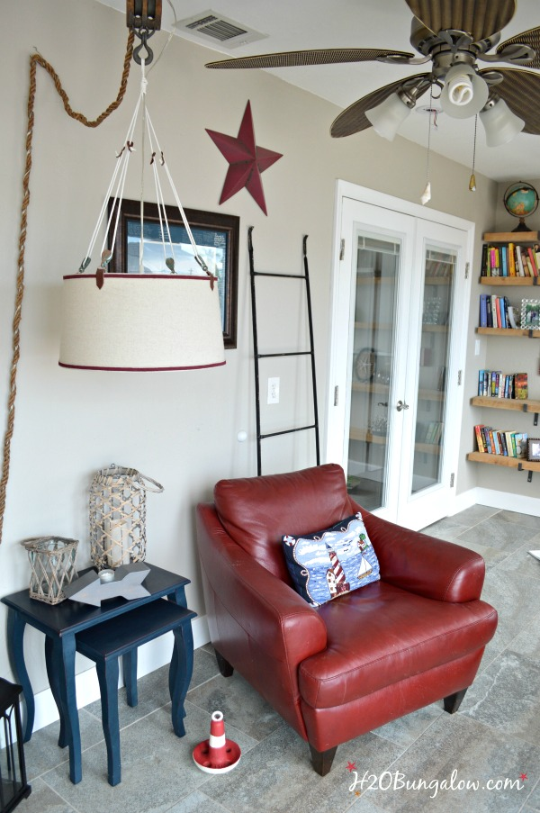 DIY hanging pendant lamp for $25 inspired by a $3000 Ralph Lauren Lamp.