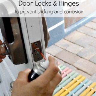 How to lubricate door locks and hinges to prevent sticking and corrosion by H2OBungalow
