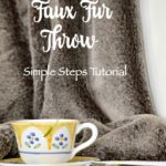 How To Make A DIY Faux Fur Throw