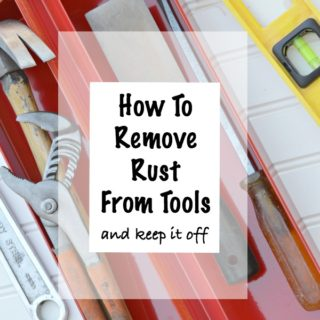 Simple DIY tutorial on how to remove rust from tools and keep it off. Use ingredients from your kitchen to safely remove rust. Works great on other metal items too. Video included by H2OBungalow
