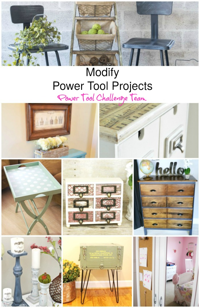 Power Tool Challenge Team Modify projects. Each member modified a project for this months Find creative tutorials and inspiration for repurpose these items.