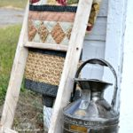 How to make a DIY vintage ladder tutorial. Simple assembly using pegs like old furniture was made. Instructions to add a rustic aged finish included. by H2OBungalow