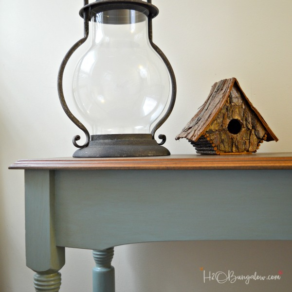 Blue Painted Console Table Makeover