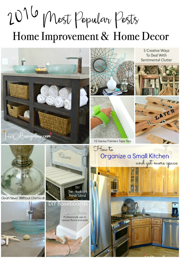 2016 most popular posts DIY tutorials in home decor and home improvement. Creative DIY projects to make your home pretty and individually yours.