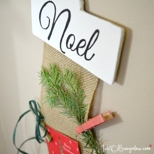 DIY Hanging Christmas Card Holder Tutorial