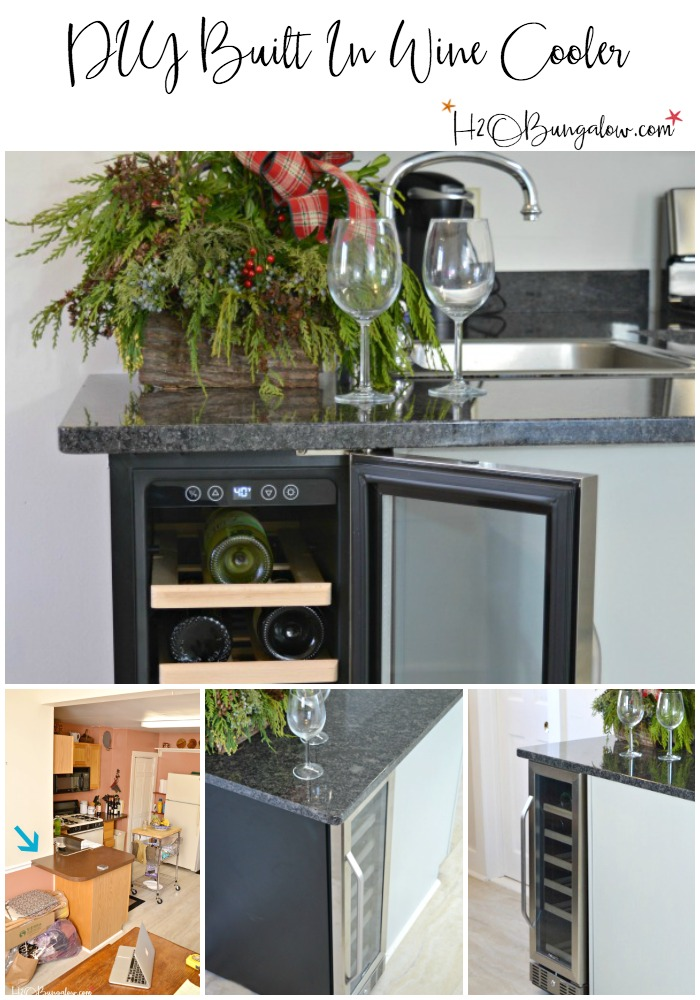 simple tutorial to make a diy built in wine cooler in your kitchen built - Built In Wine Cooler