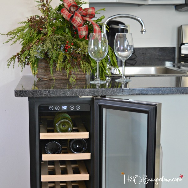 DIY Built In Wine Cooler - H2OBungalow