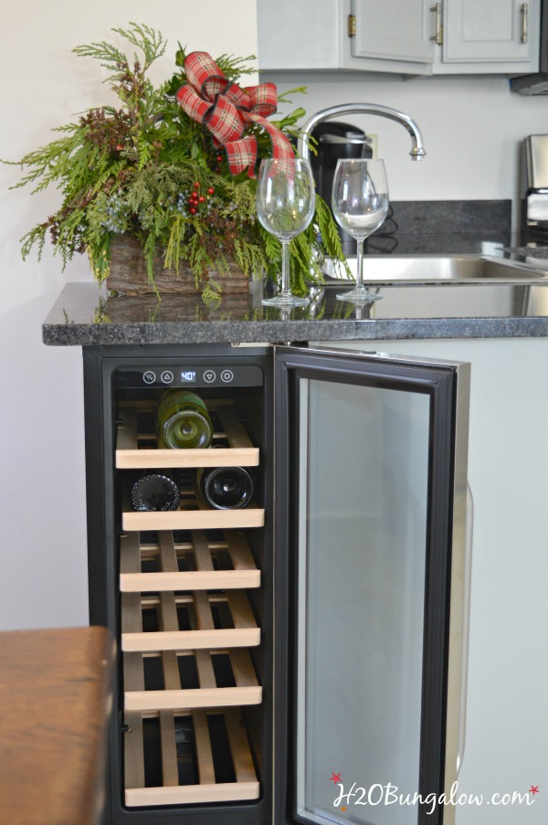DIY Built In Wine Cooler - H20Bungalow