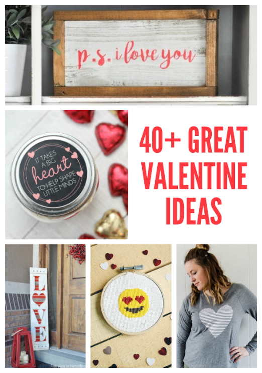 Over 40 fabulous Valentine crafts and gift tutorials from your favorite bloggers on the web. Romantic and easy gift ideas, fun Valentine crafts for kids and Valentine home decor projects.