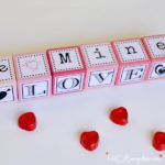 Make these DIY Valentine word message blocks with Be Mine, I'm Yours, Kiss Me and more. Free downloadable printable with the words and letters in this post. Plus this post includes over 40 fabulous Valentine crafts and gift tutorials from your favorite bloggers on the web. Romantic and easy gift ideas, fun Valentine crafts for kids and Valentine home decor projects.