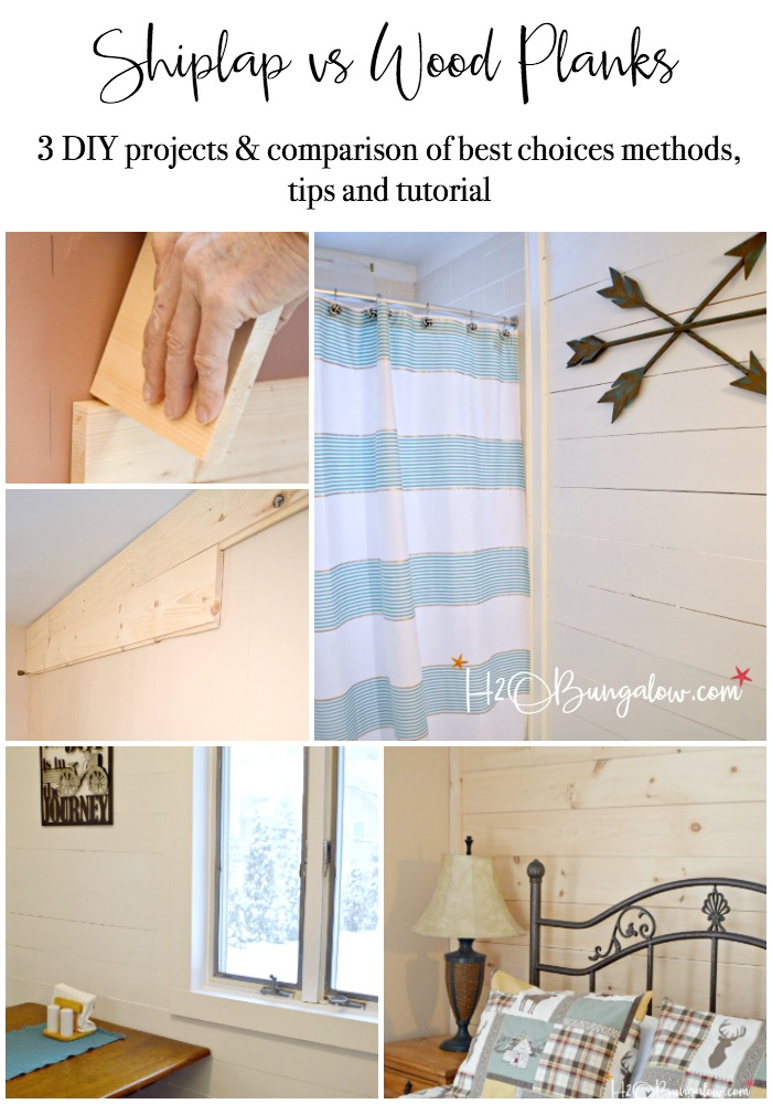 Diy Shiplap Vs Planked Wood Walls H2obungalow